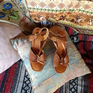 Vintage Tooled leather sandals